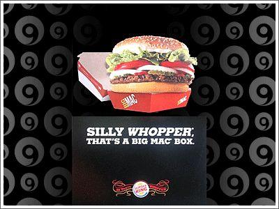"""Estúpido Whopper, es una caja de Big Mac"""