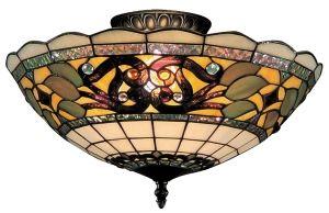 "Tiffany Street - Buckingham Tiffany Ceiling Lighting 16"" W"