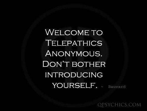 Telepathy Quote