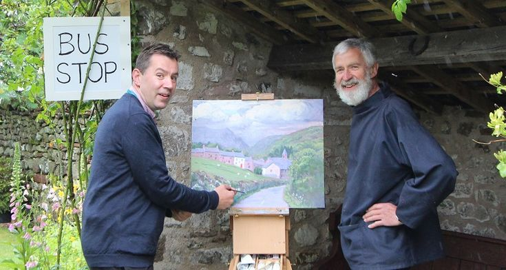 Landscape journey leads Penrith TIC to artist studio's bus stop http://www.cumbriacrack.com/wp-content/uploads/2017/06/IMG_4167-copy.jpg A bus stop in the grounds of an Eden Valley artist was the unusual location for Penrith Tourist Information Centre (TIC) this week to launch their latest retail partnership    http://www.cumbriacrack.com/2017/06/07/landscape-journey-leads-penrith-tic-artist-studios-bus-stop/