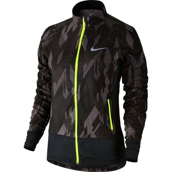 Nike Flex Trail Jacket (€130) ❤ liked on Polyvore featuring activewear, activewear jackets, nike, nike activewear and nike sportswear