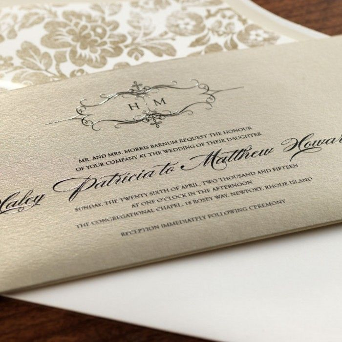 address wedding invitation unmarried couple%0A Golden Sweetheart Pocket Wedding Invitation  Wedding Invitations  Wedding    eInvite com