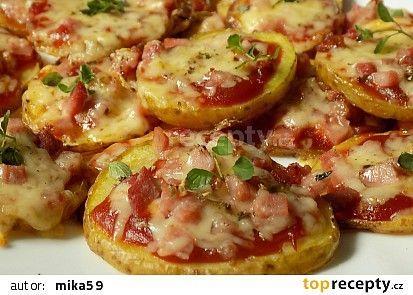 Bramborové mini-pizzy............ https://www.toprecepty.cz/recept/53697-bramborove-mini-pizzy/?
