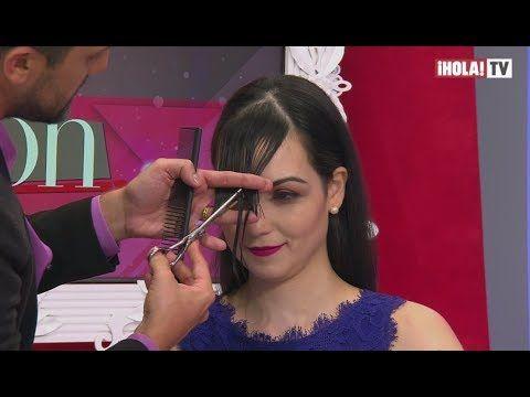 El estilista profesional Gabriel Samra te enseña cómo cortar el flequillo | ¡HOLA! Fashion - YouTube