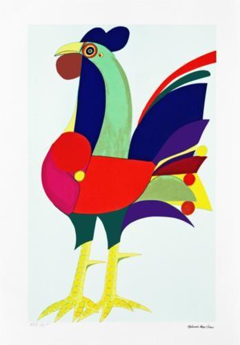 Aldemir Martins (Brazilian: 1922-2006) - Galo