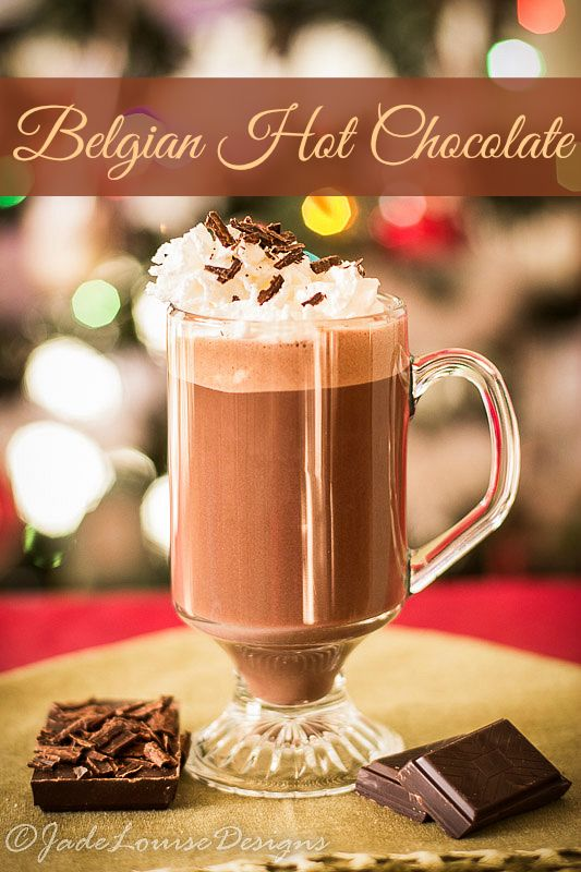 The Best Belgian Hot Chocolate Recipe you will ever taste, made from real Belgian chocolate, smooth and creamy and full of flavor. | 25 Days of Christmas