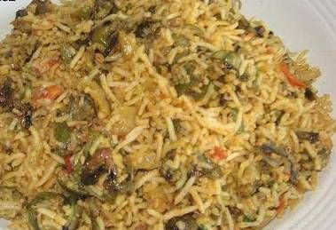 Pulav with Lady's Finger. Its very simple and tasty dish.