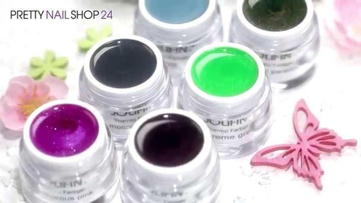 #uvgel +thermo #flipflop #nails Beeindruckende Farbwechsel sorgen für spektakulär effektvolle Designs auf Deinen Nägeln. Wie sich die brandneuen Farben unserer Thermo Gele verändern, möchten wir Dir in diesem Video zeigen. Hier findest Du die neuen Thermo-Farbgele: http://www.prettynailshop24.de/shop/jolifin-thermo-farbgele-video_363.html#Produkte