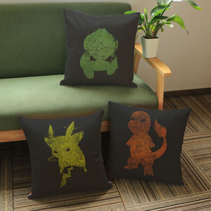Pokemon Decorative Plush Cushion Pikachu Printing Pillow Case Cover With Core
