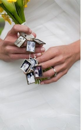 4 KIT to Wedding Bouquet Memory Photo by perfectpendantsplus, $12.95  I really want one that will clip to clothing!