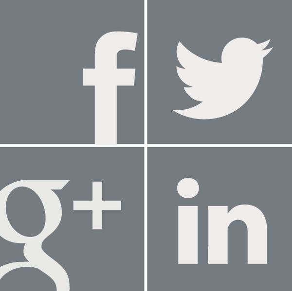 4 Grey Icons (social media) by Meisha Ray, via Behance    Created by Meishanized, LLC