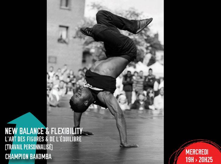 Jeu(X) de Piste - Cours du Soir -NEW BALANCE & FLEXIBILITY avec Champion Bakomba : Comment gérer l'espace la tête en bas ou les pieds en l'air ? Découvrez différents types d'équilibre & explorez une flexibilité à toute épreuve.