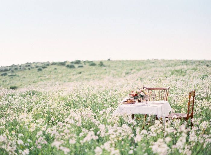 """Table for 2"" in a Wild Flower Field ...♥️"