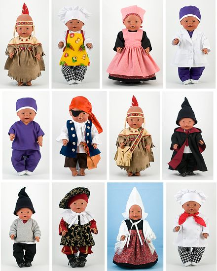 Dressing Up! is a Doll Clothes Pattern for 43cm Dolls. Create great costumes!