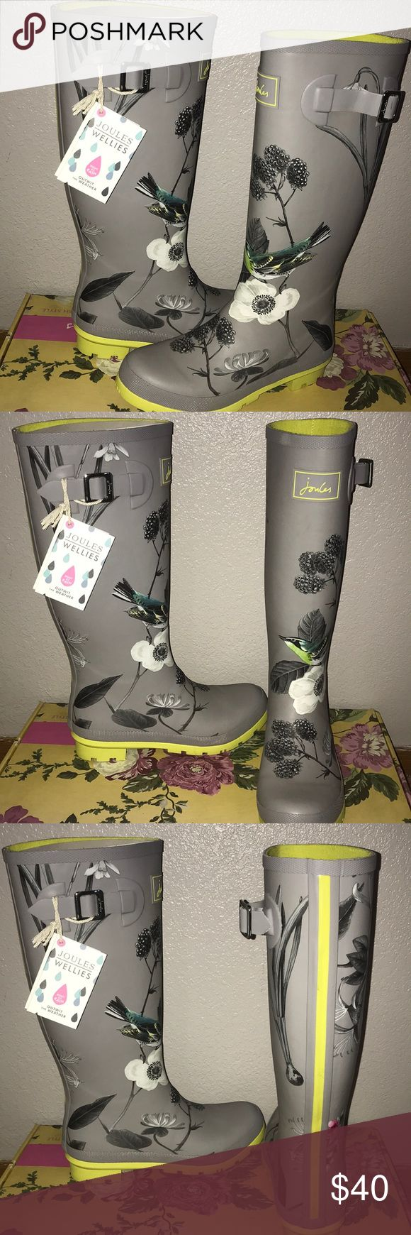 JOULES WELLIES NEVER WORN beauuutiful rain boots 🌧 box included with purchase 😊 Joules Shoes Winter & Rain Boots