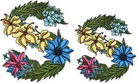 Exotic Flowers Font - Letter S