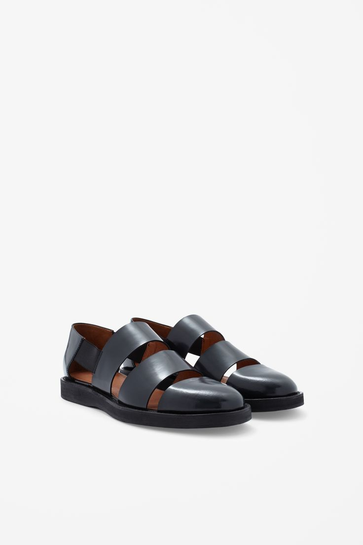 COS Polished leather sandals I would love these