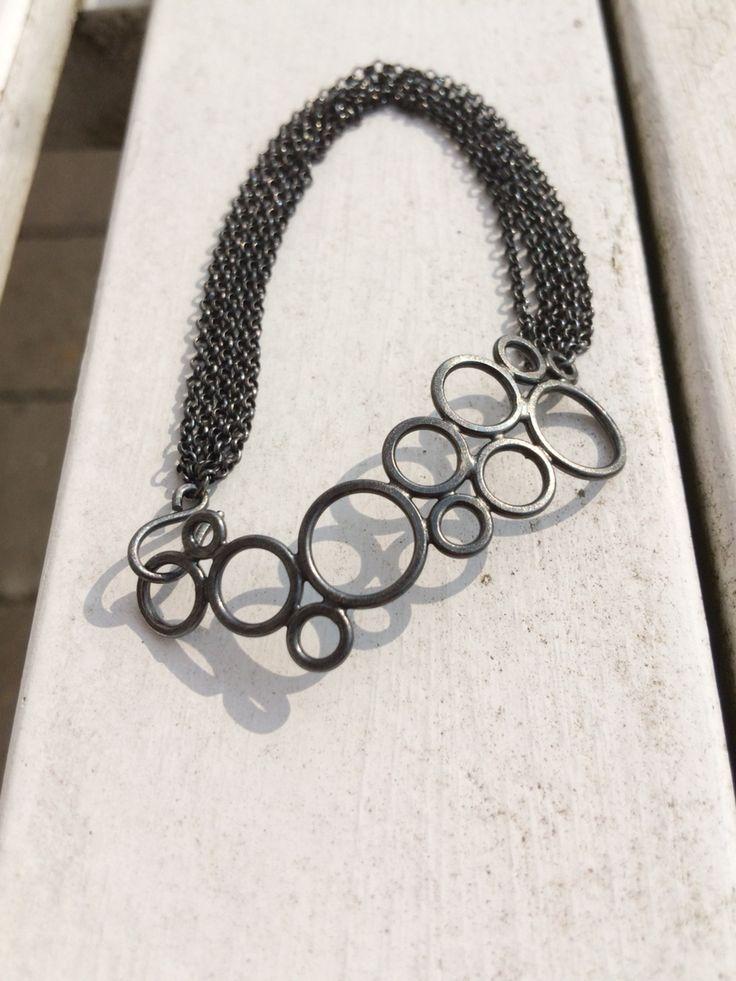 Bracelet in oxidised silver