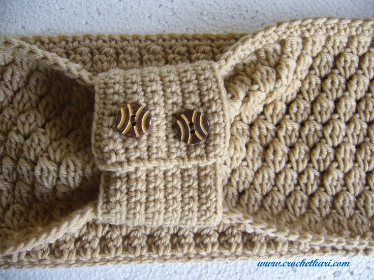 Crochet Cluster stitch cuffed cowl CROCHET SCARVES, COWLS, COLLARS ...