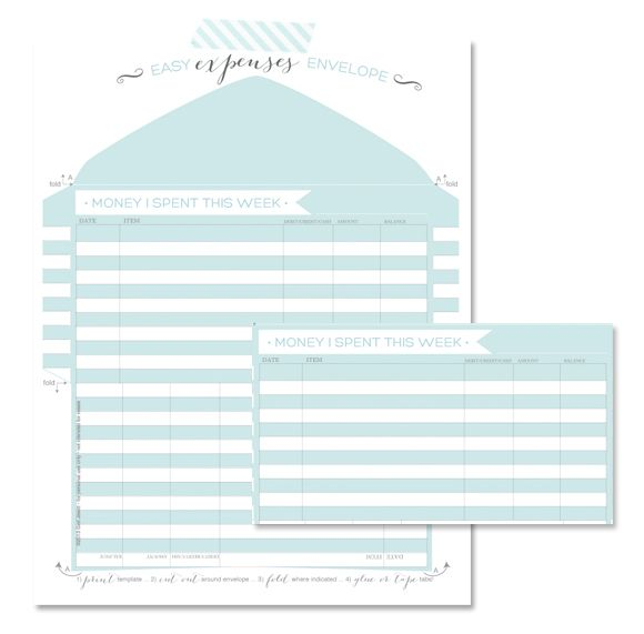 Tracking Your Expenses | free printable download