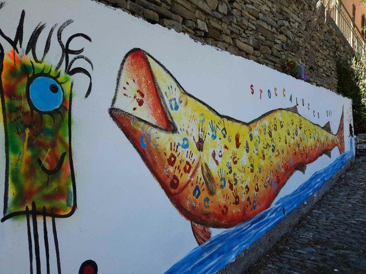 Realizzazione murale a Badalucco , italy