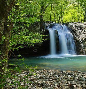 Waterfall at Lake Catherine State park in  Hot Springs, Arkansas
