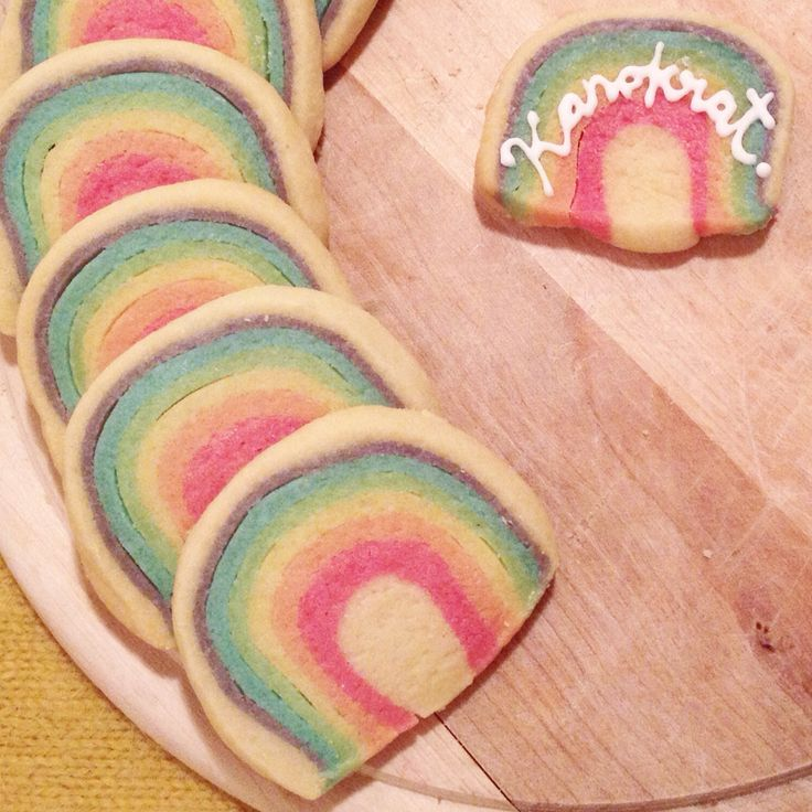 Rainbow cookies. Shortbread cookies