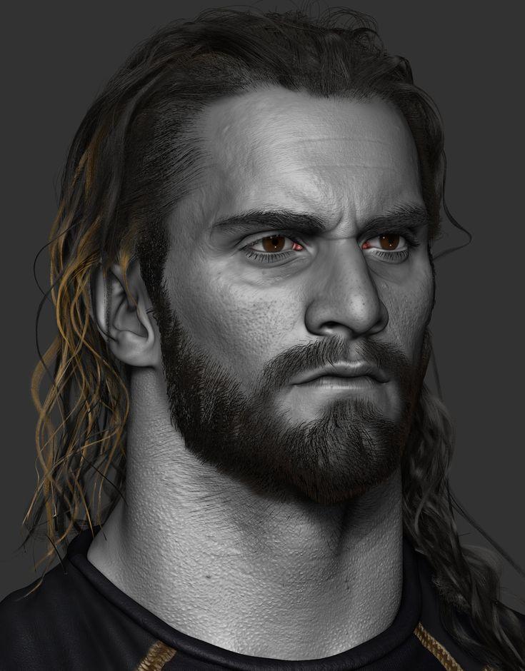 ArtStation - Seth Rollins done for WWE, Hossein Diba