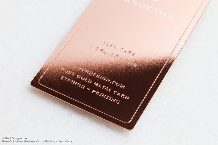 Rose Gold Metal Name Cards 4