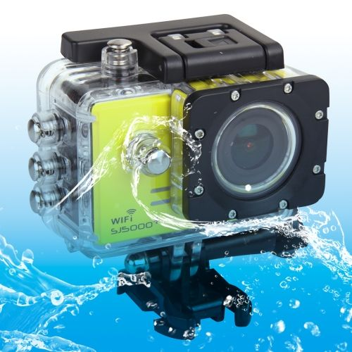 [USD136.38] [EUR122.84] [GBP96.05] SJCAM SJ5000+ WiFi HD 1080P 1.5 inch LCD Sports Camcorder with Waterproof Case, 170 Degrees Wide Angle Lens, 30m Waterproof(Yellow)
