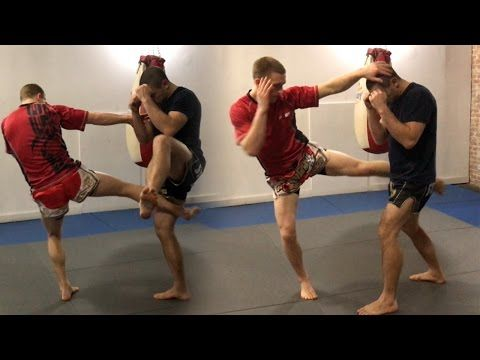 3 Hook, Low Kick Combos for Muay Thai | Muay Thai Guy