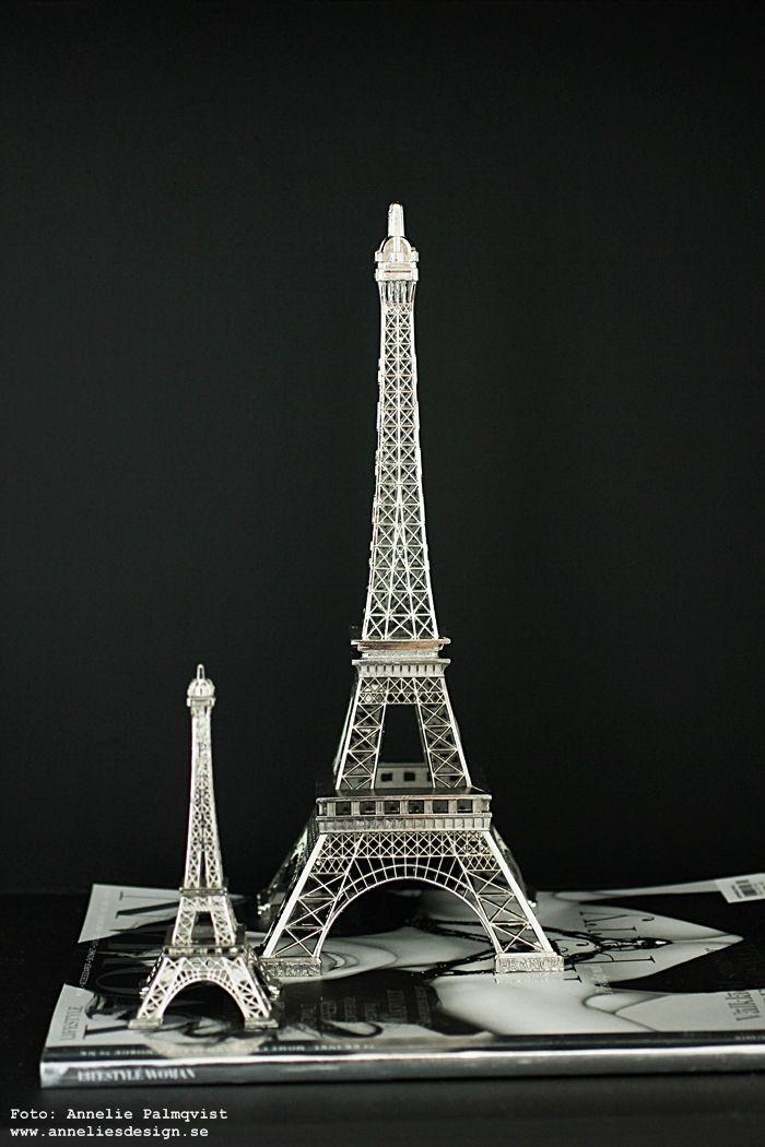 Eiffeltorn prydnad: www.anneliesdesign.se