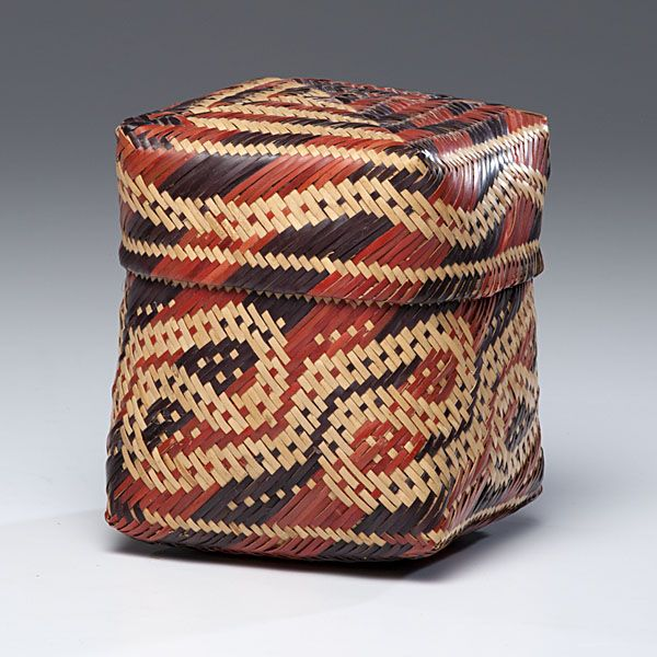 Woven Basket Pinterest : Chitimacha double woven lidded basket native american