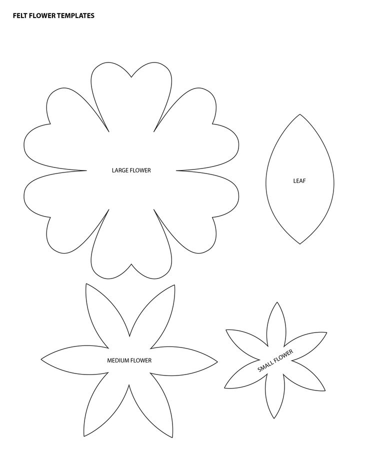 flower templates for felt - Google Search