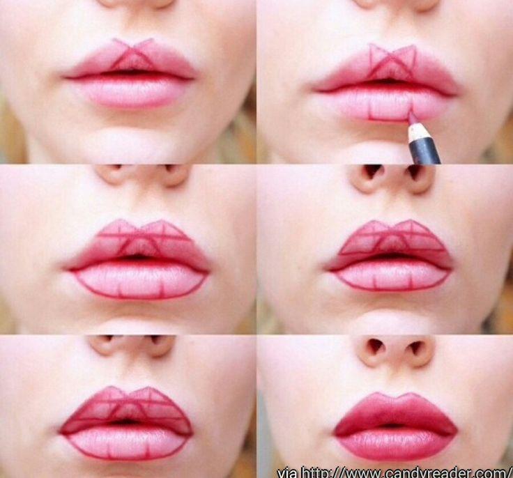 Lippen größer schminken