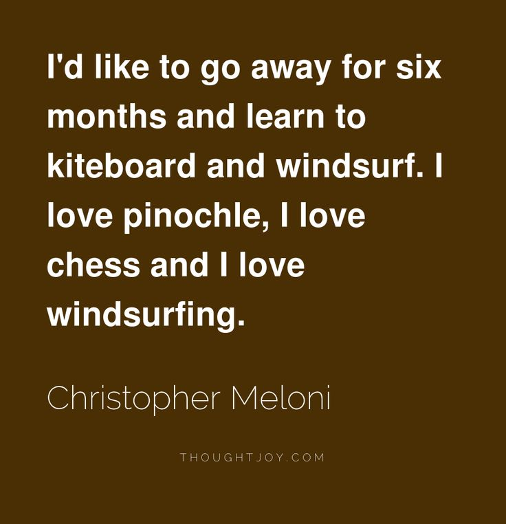 Great quote about #kiteboarding by actor Chris Meloni