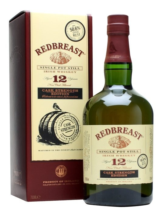 Redbreast 12 Year Old Cask Strength / Batch B1/12 : Buy Online - The Whisky Exchange - A follow-up release to the award-winning and rightly popular batch B1/11, this is the second bottling 12 year old Cask Strength whiskey from Redbreast. A rich and complex single pot still Irish whi...