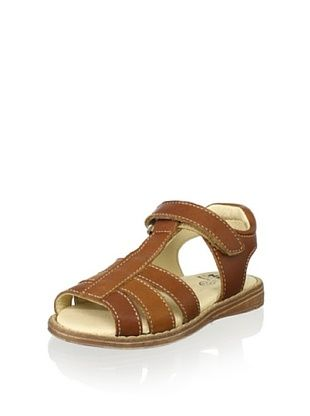 64% OFF Nens Kid's Hook-and-Loop Strappy Sandal (Brown)