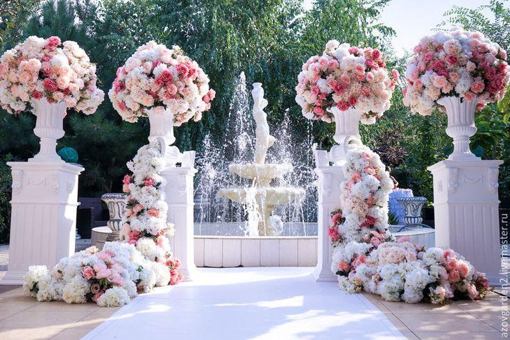 Купить Тумбы белые под цветы свадебные Подставки Пьедесталы Постаменты - белый, тумба, столб