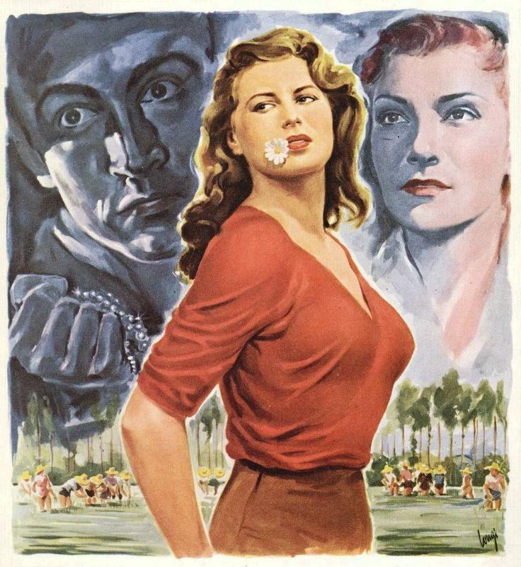 """Silvana_Mangano Poster """"Bitter Rice""""(1949)"""
