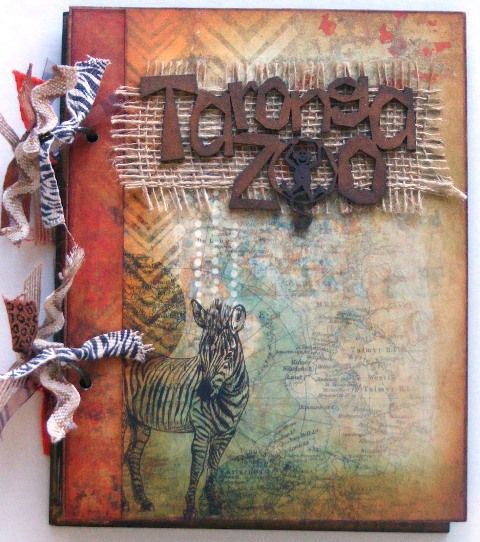 Taronga Zoo mini book created with KaiserCraft, Into the Wild collection by Teena Hopkins for My Scrappin' Shop.