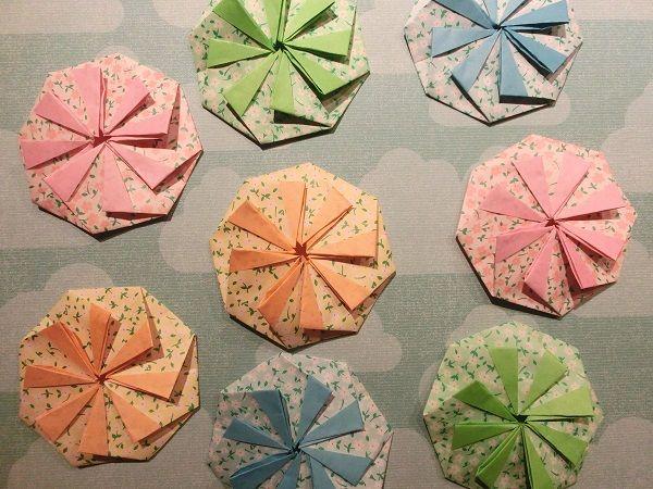 Sakura の 住めば都!ミネソタ日記: 簡単!折り紙で八角形のぽち袋