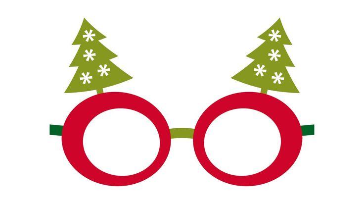 Kit descargable para hacer un photocall de Navidad - Velas y gafas