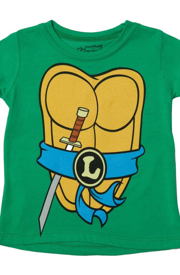 Kids Leonardo TMNT Costume Shirt