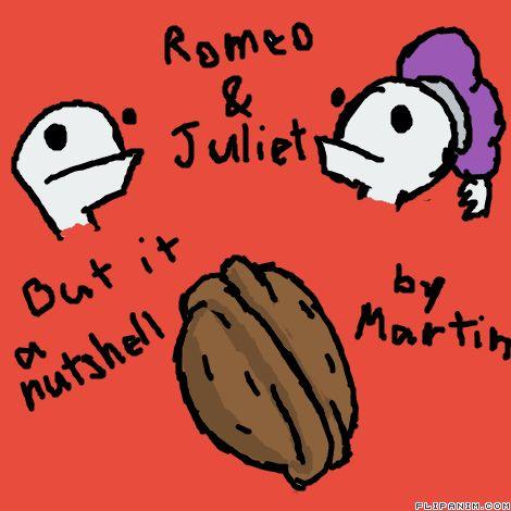 Romeo & Juliet but a Nutshell by ItsMartin #gif #anim #animation #flipanim #flipbook #drawing #draw