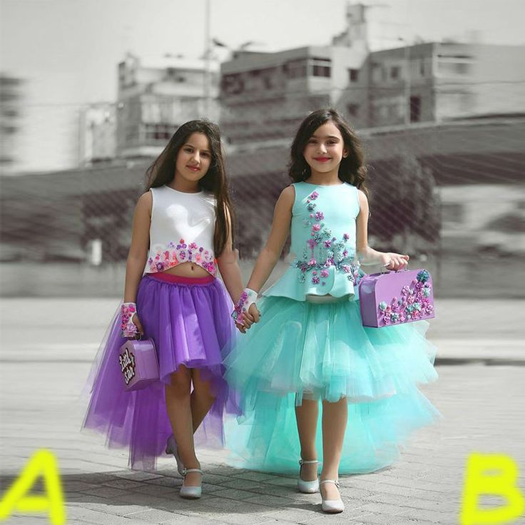 Find More Flower Girl Dresses Information about Dynamic Purple Flower Girl Dresses 2 Pieces Kids communion gown Saudi Arabia Middle East Flower Girl Dress HiLow Tutu Girl Skirt,High Quality dress ski,China dress blocks Suppliers, Cheap skirt jean from Suzhou Yast Wedding Dress Store on Aliexpress.com