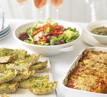 Italian Green Salad With Parmesan lemon dressing - recipe