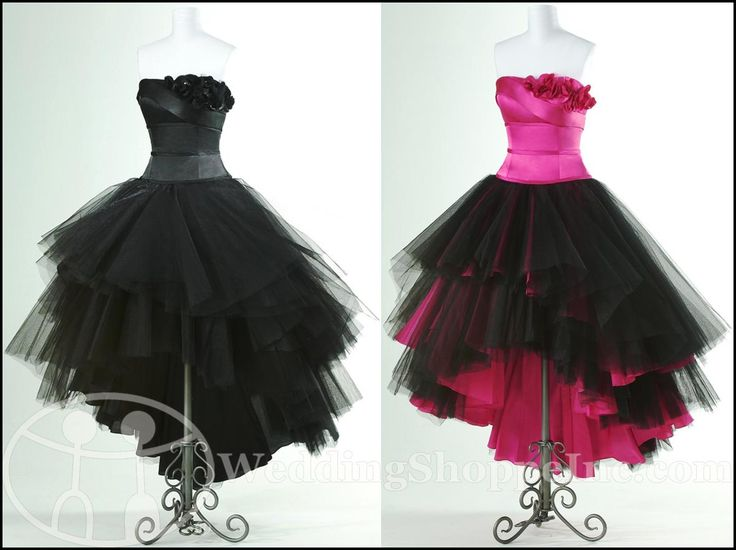 Pink And Black Cocktail Dresses | Flirt Prom Dress P1640 (in Black and Fuchsia / Black)