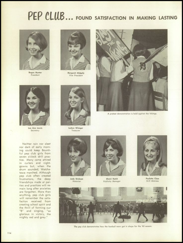 1966 Bountiful High School Yearbook via Classmates.com Mom in Pep Club