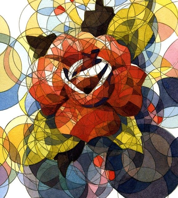 """""""Red Rose"""" by artist Adam Ziskie. good concept for textile & therad"""
